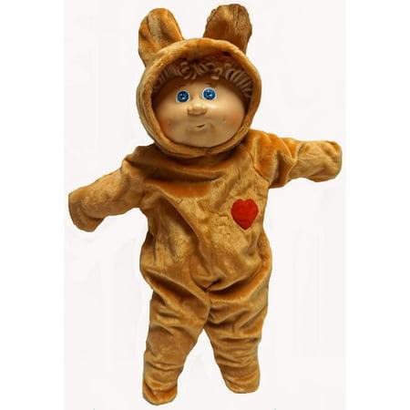 Honey Bear Costume Fits Cabbage Patch Kid Dolls - Kid Bear Costume