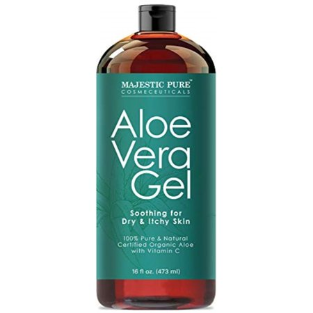 46e25b5f262 Majestic Pure Aloe Vera Gel - From 100% Pure and Natural Cold Pressed Aloe  Vera, 16 fl oz - Walmart.com