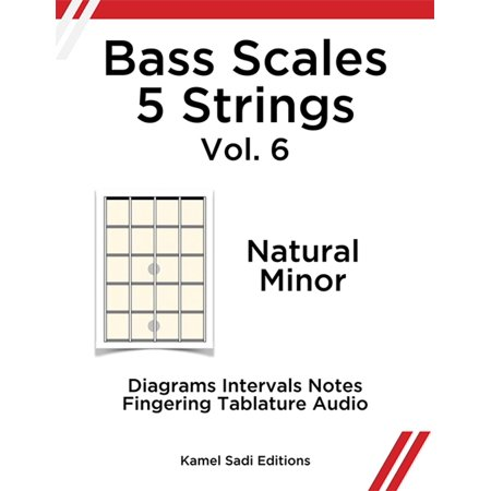 Bass Scales 5 Strings Vol. 6 - eBook (5 String 34 Scale)