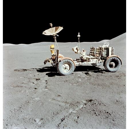 Apollo 15 Lunar Roving Vehicle on the moon Canvas Art - Stocktrek Images (28 x 29)