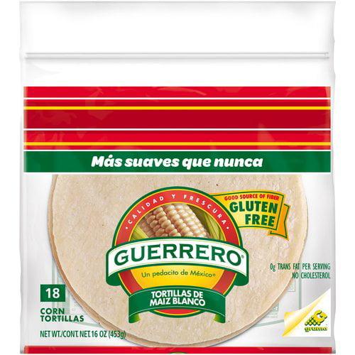 Guerrero® White Corn Tortillas 18 ct Bag