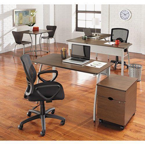 Trento Line L Shaped Desk 59w X 59d X 29 1 2h Mocha