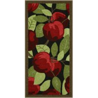 Better Homes & Gardens Red Apples Kitchen Loop Pile Print Rugs