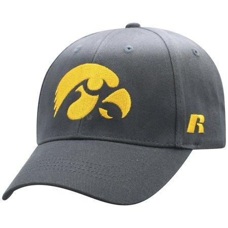 - Men's Russell Charcoal Iowa Hawkeyes Endless Adjustable Hat - OSFA