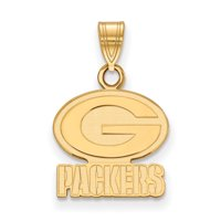 Green Bay Packers Gold-Plated Small Logo Pendant - No Size