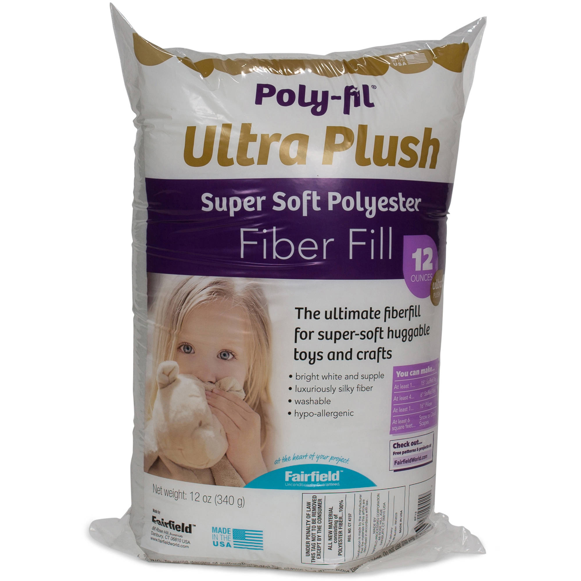 Poly-Fil Supreme Fiber, 12-oz Bag