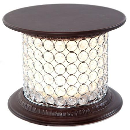 Bedroom Glass Pedestal (Glass Memory Lamp -  0 -  White Pedestal)
