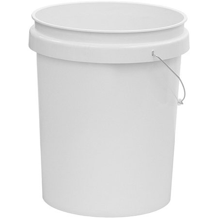 United Solutions 5 Gallon Plastic Industrial Pail With Handle  White