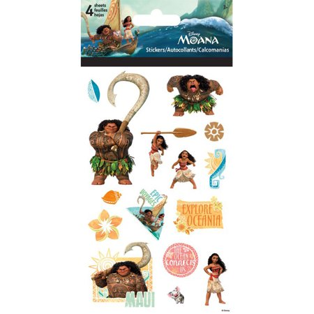 Disney moana standard stickers 4 sheets for Autocollant mural walmart