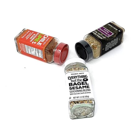 Seasoning - 21 Salute Seasoning, Chile Lime and Everything but The Bagel Seasoning Seasoning - 21 Salute Seasoning, Chile Lime and Everything but The Bagel SeasoningManufacturer : Size : 1 PACK- 1 Bottle of  21 Seasoning Salute spice blend, 2. 2 oz- 1 Bottle of  Everything but the Bagel Sesame Seasoning Blend, 2. 3 oz- 1 Bottle of  Chile Lime Seasoning Blend, 2. 9 ozChili Lime  has perfected the Classic Flavor Fusion; just the right amount of salt and heat Offered by the street vendors throughout Mexico; to sprinkle on their fresh fruits & veggies Authentic flavor of tart lime juice, a touch of sea salt with an ever-so-slight chile-powder kick You will receive one (2. 9 ounce) jar of this traditional seasoning blend/condiment . Kosher Everything But the Bagel NEW  Everything But the Bagel Sesame Seasoning Blend 2. 3 Oz This simple (yet exemplary) blend of sesame seeds (white and black), poppy seeds, dried garlic & onion, and sea salt flakes is all you need for bringing that crunchy, roasted, savory flavor to grilled chicken, buttered popcorn, baked potatoes, creamy dips, pizza dough, salad dressings, pasta, mac & cheese, or panko-breaded anything. INGREDIENTS: Sesame Seeds, Sea Salt Flakes, Dried Minced Garlic, Dried Minced Onion, Black Sesame Seeds, Poppy Seeds. 21 Seasonsing  21 seasoning salute is a smooth blend of onion, black pepper, celery seed, cayenne pepper, parsley, basil, marjoram, bay leaf, oregano, thyme, savory, rosemary, cumin, mustard, coriander, garlic, carrot, orange peel, tomato, lemon juice and lemon oil. The various seasonings are blended in such a way that each flavor complements the others, as well as the dishes to which you add them. 21 seasoning salute is a quick, simple way to add an excellent balance of flavors, without spending a fortune stocking your spice shelves!