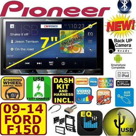 2009-14 FORD F150 PIONEER TOUCHSCREEN BLUETOOTH USB CAR RADIO STEREO PKG (Pioneer Car Bluetooth Radio)