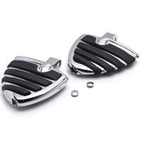 Krator Wing Foot Front Peg Foot Rests Chrome for Honda Ace Spirit Magna Shadow Phantom Chrome Motorcycle Wing Foot Pegs Footrests L+R