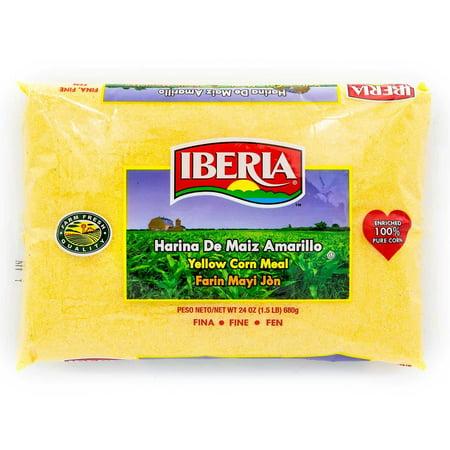 (5 Pack) Iberia Yellow Corn Meal, Fine, 24 Oz