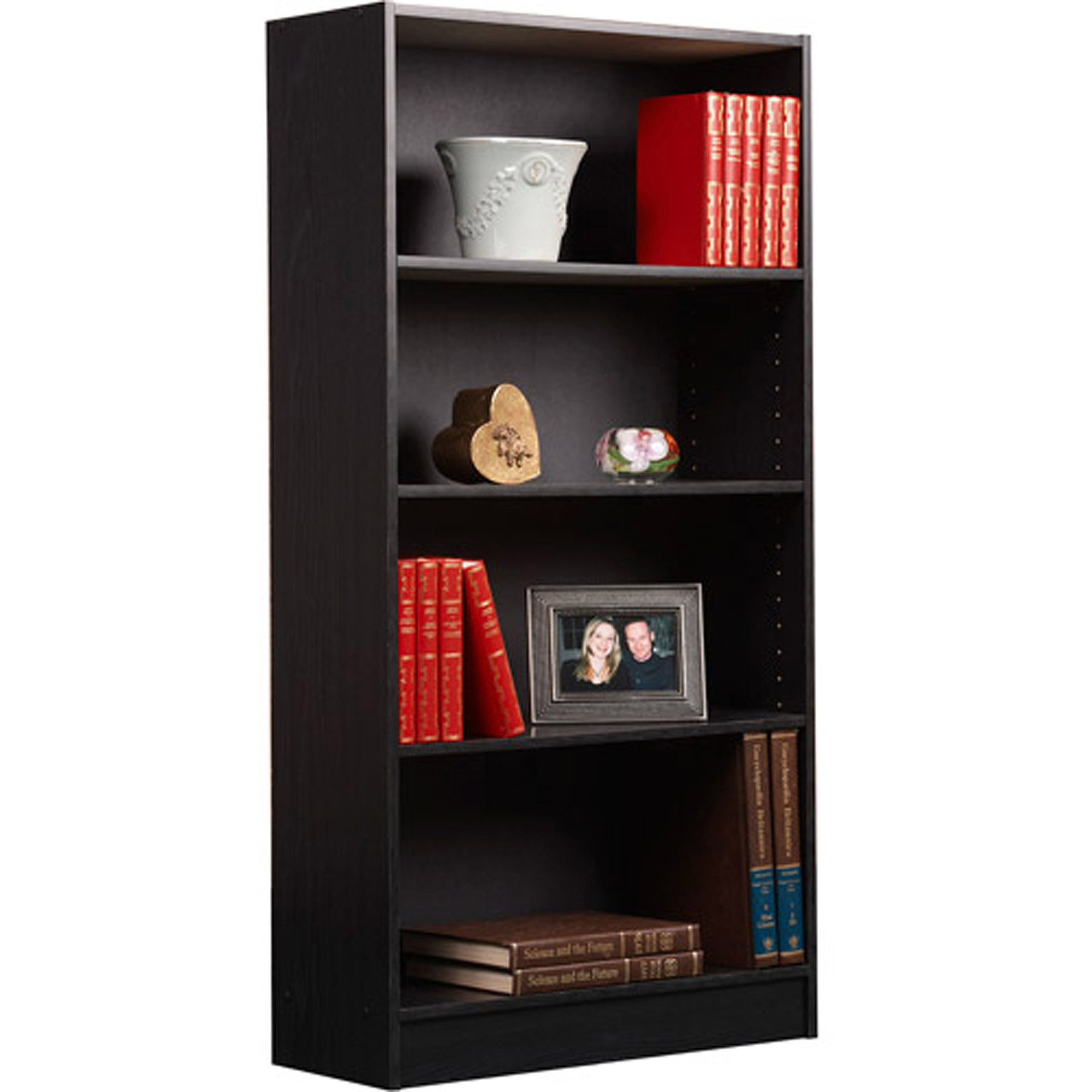 bookcase bookcases raw shelf oak south shore reflekt gray