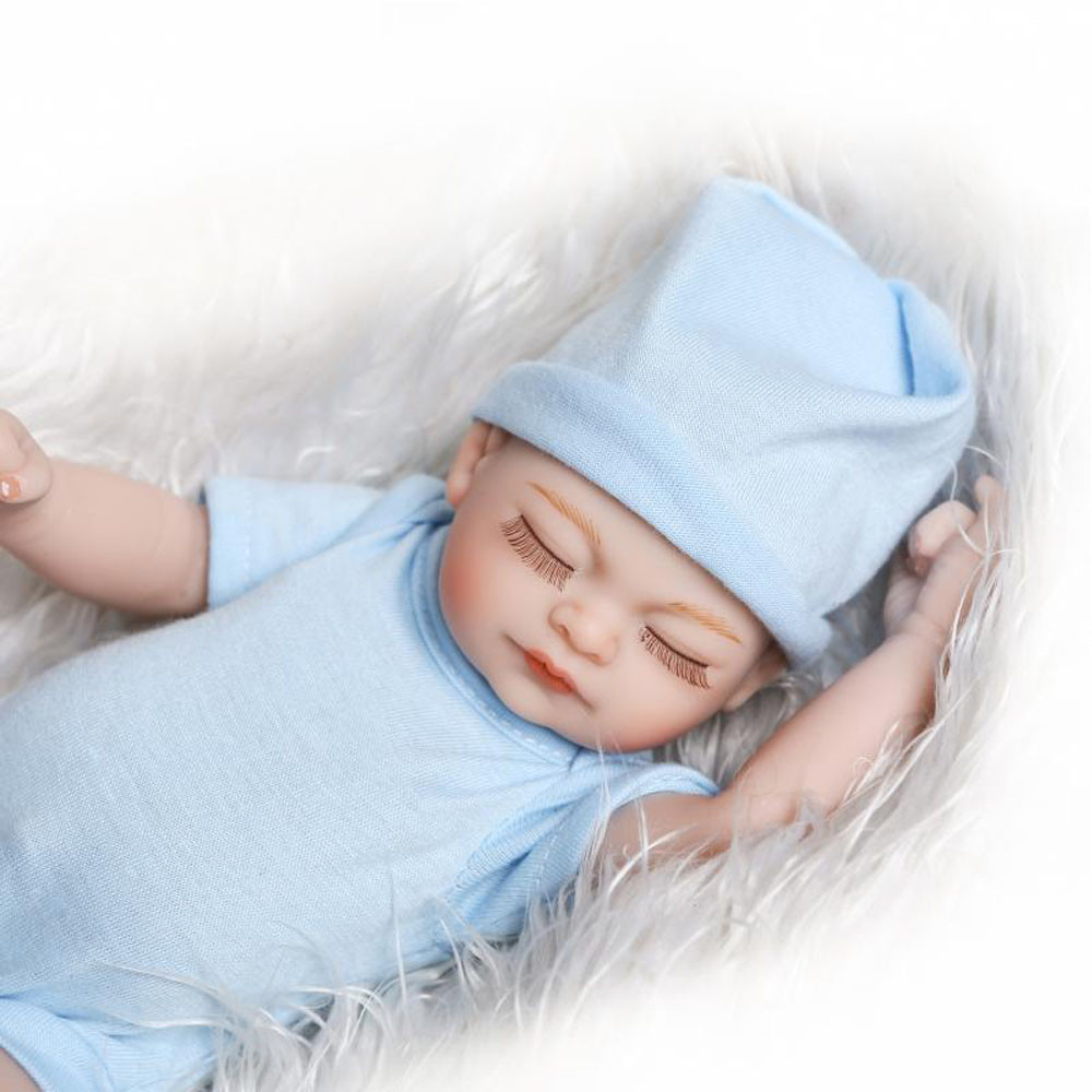 Mosunx Lifelike Reborn Baby Doll 26cm Newborn Doll Kids Girl Playmate Birthday Gift BU