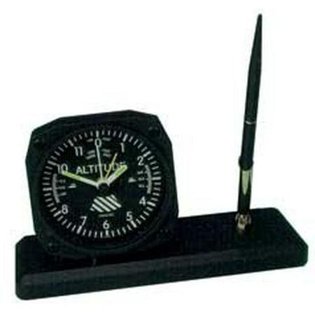 Altimeter Clock (Trintec Altitude Altimeter Desk Pen Set with Alarm Clock Model DS60)