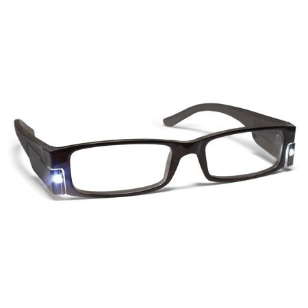 PS Designs 01422 - LED Midnight Frame +1.25 Lighted Reading Glasses - Glasses With Led