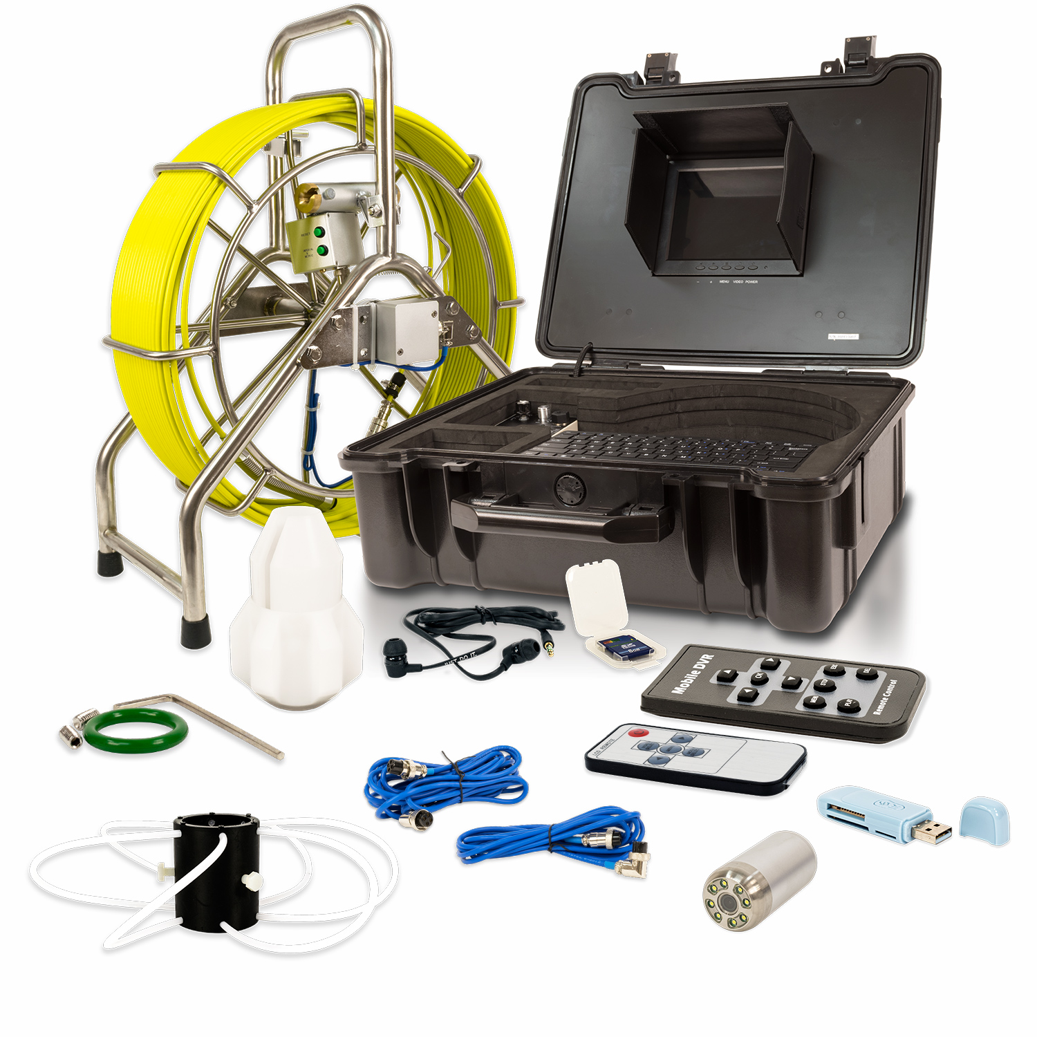 Video Snake 3388T 196' Pipe Inspection Camera w/ Transmitter