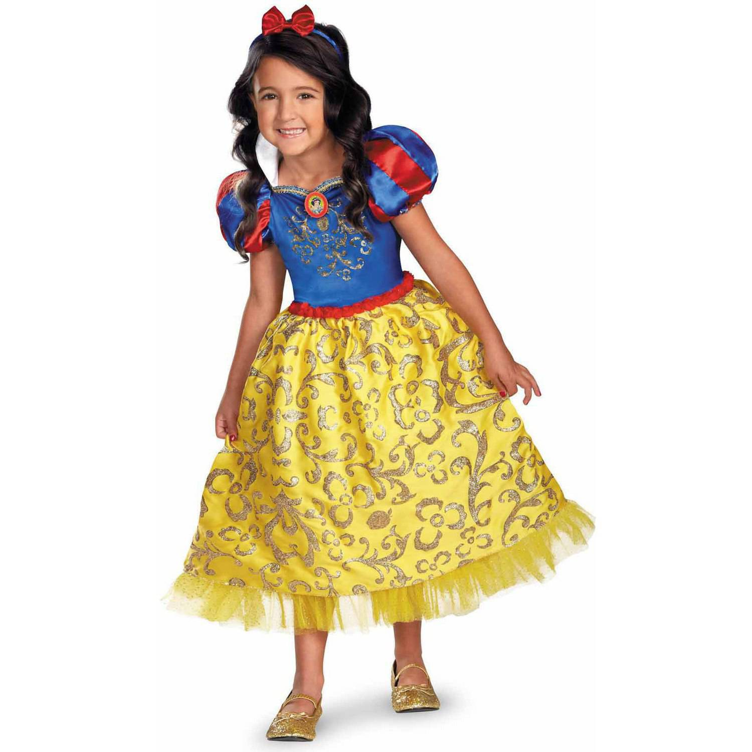 Disney Snow White Deluxe Sparkle Girls' Child Halloween Costume