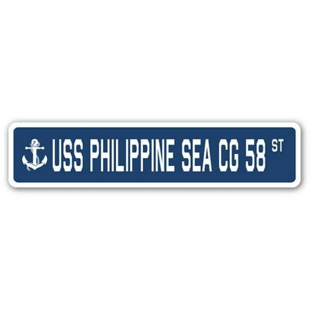 USS PHILIPPINE SEA CG 58 Street Sign us navy ship veteran sailor gift