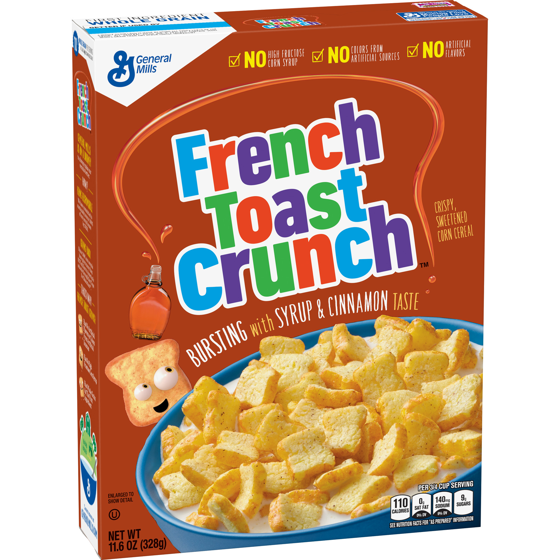 (2 Pack) French Toast Crunch Cereal, 11.6 Oz