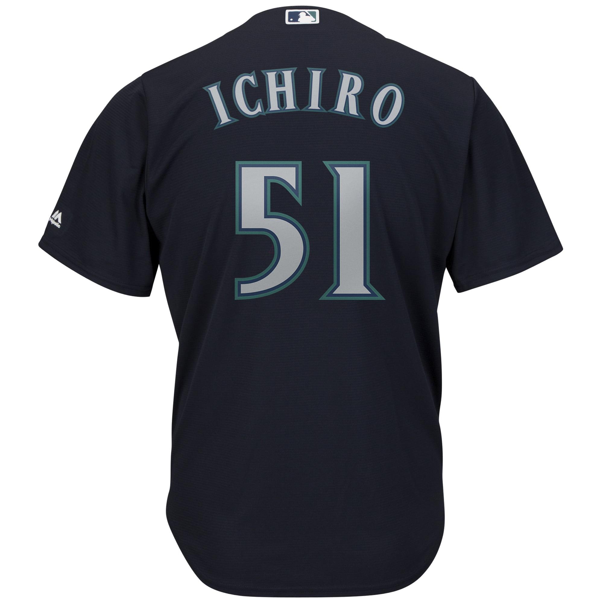 watch cdaf9 142fb Ichiro Suzuki Seattle Mariners Majestic Official Cool Base Player Jersey -  Navy