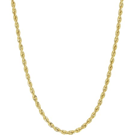 Simply Gold 10Kt Yellow Gold 2 9Mm Rope Chain Necklace  22
