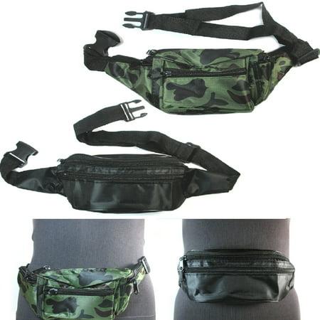 - 3 CAMOUFLAGE Waist Fanny Pack Belt Bag Pouch Travel Sport Hip Men Women Bum Bag