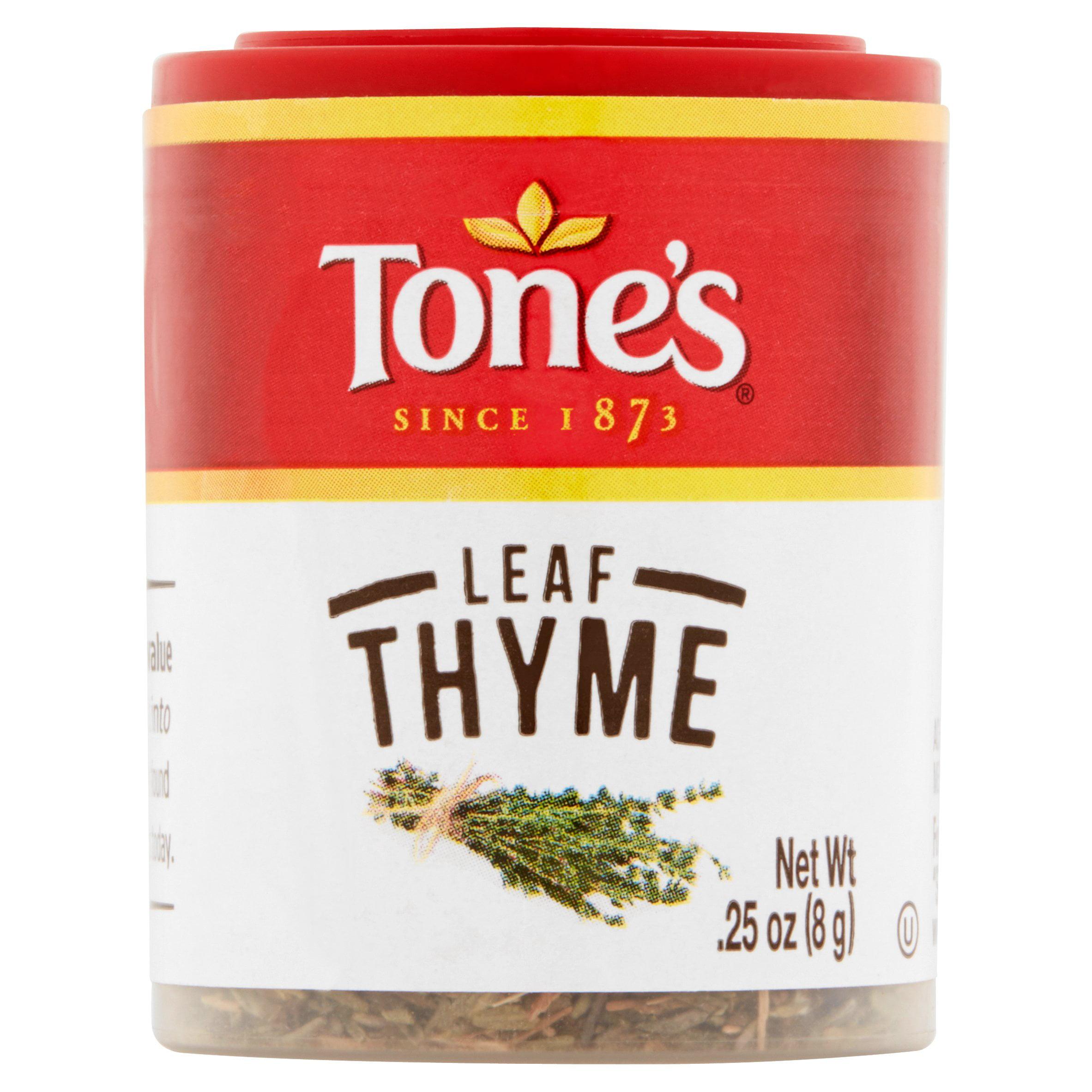 (4 Pack) Tone's Thyme Leaf, 0.25 oz