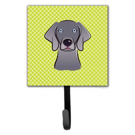 Caroline's Treasures Checkerboard Weimaraner Leash Holder and Wall Hook