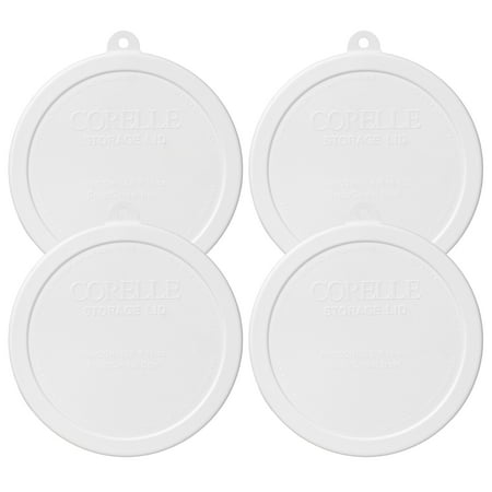 Corelle Replacement Lid 418-PC 6.25-in White Plastic Cover 4-Pack for Corelle 418 18oz Bowl (Sold Separately)](Large Plastic Trifle Bowl)