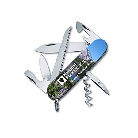 (Vctorinox Swiss Army Camper Multi-tool Drop Point Knife Glacier National Park)