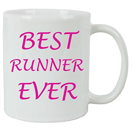 For the Best Runner Ever 11 oz White Ceramic Coffee Mug with FREE White Gift Box for Holiday Gift or