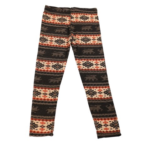 Girls Legging Long Leg Perfect Fit Graphic Print Warm Spandex Stretchable Pant Leggings  Small