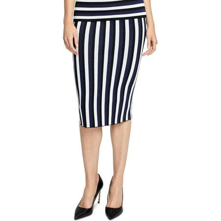 Rachel Rachel Roy Womens Striped Pull On Pencil Skirt