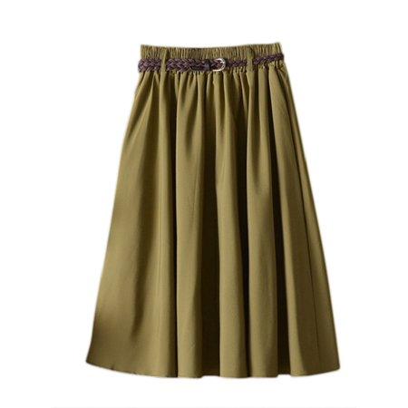 bb0a2a9bd01f OUMY - OUMY Women High Waist Pleated Long Maxi Skirts - Walmart.com