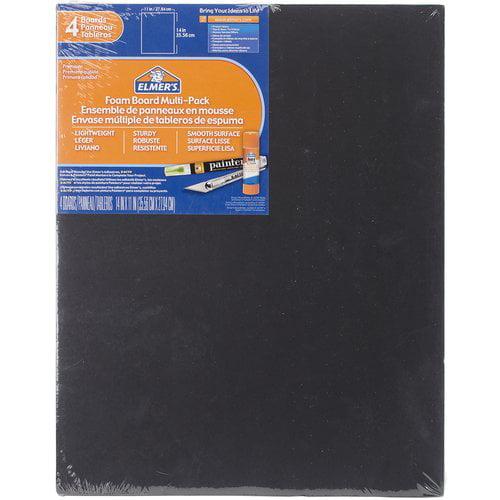 "Elmer's Foam Boards, 11"" x 14"" x .1875"", 4pk, Black"