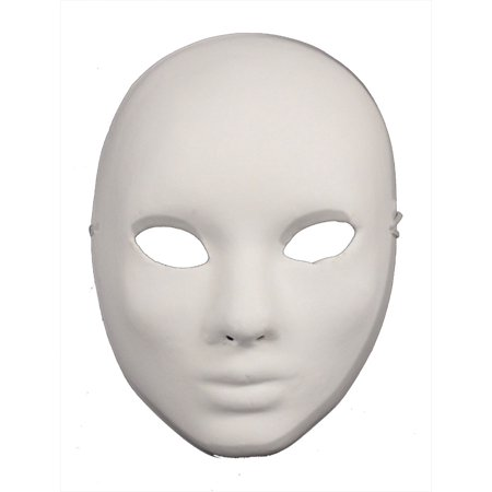 paper mache craft mask blank masks plain white walmart com