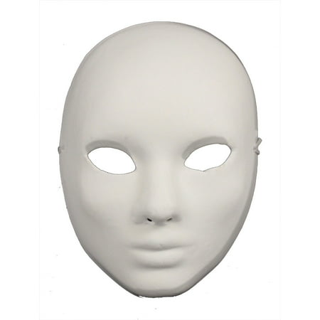 PAPER MACHE CRAFT MASK - Blank Masks - PLAIN WHITE