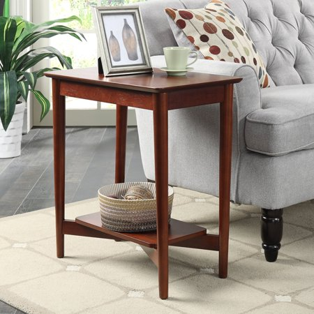 Convenience Concepts Savannah Chairside - Brown Finish Chairside Table
