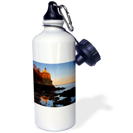 3dRose Split Rock Lighthouse, Two Harbors, Minnesota - US24 CHA0071 - Chuck Haney, Sports Water Bottle, 21oz