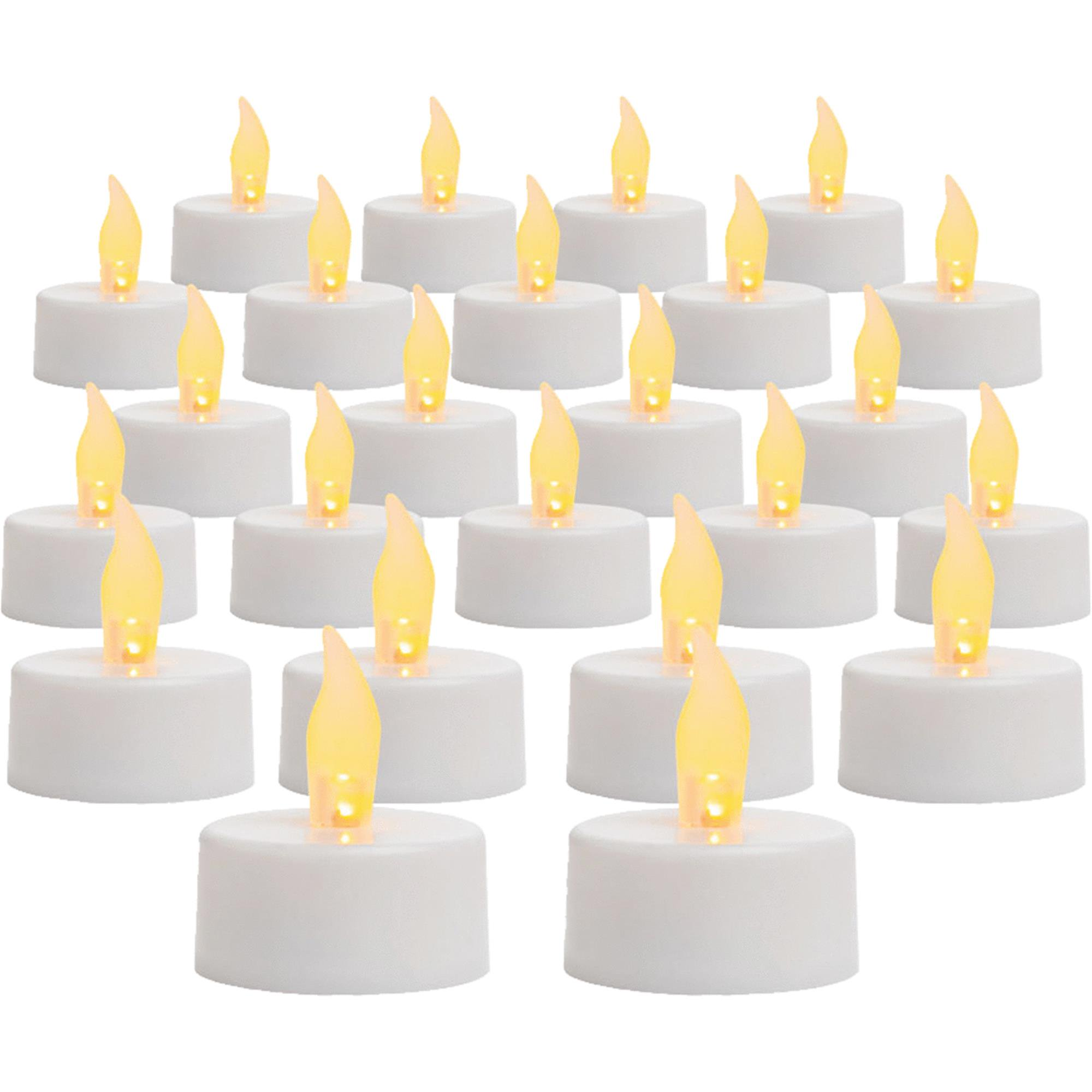 Inglow Flameless Tea Candle Lights, 24-Pack (BASE UPC 0062744203123)