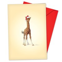 'B6726FXSG Zoo Babies Christmas Cards' Box Set of 12 Hilarious Merry Christmas Notecards with Envelopes by NobleWorks
