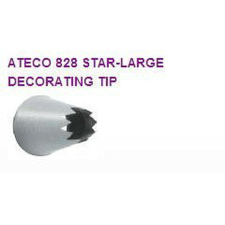 Star Tip - Large Star Cake / Cupcake Decorating Tip #828. 2pack