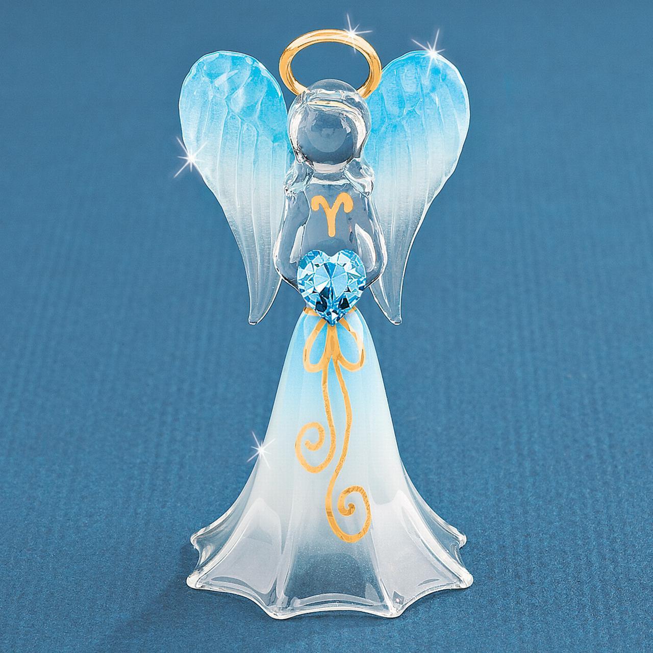 Blue Angel Swarovski Elements Glass Figurine Religious Baptism/christening/communion For Women