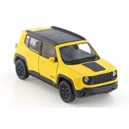 2017 Jeep Renegade Trailhawk, Yellow w/ Black - Welly 43736D - 4.5