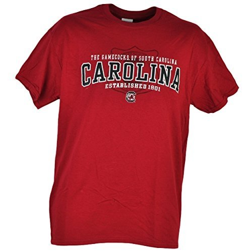 NCAA South Carolina Gamecocks Tshirt Tee Burgundy Mens Adult Short Sleeve Large