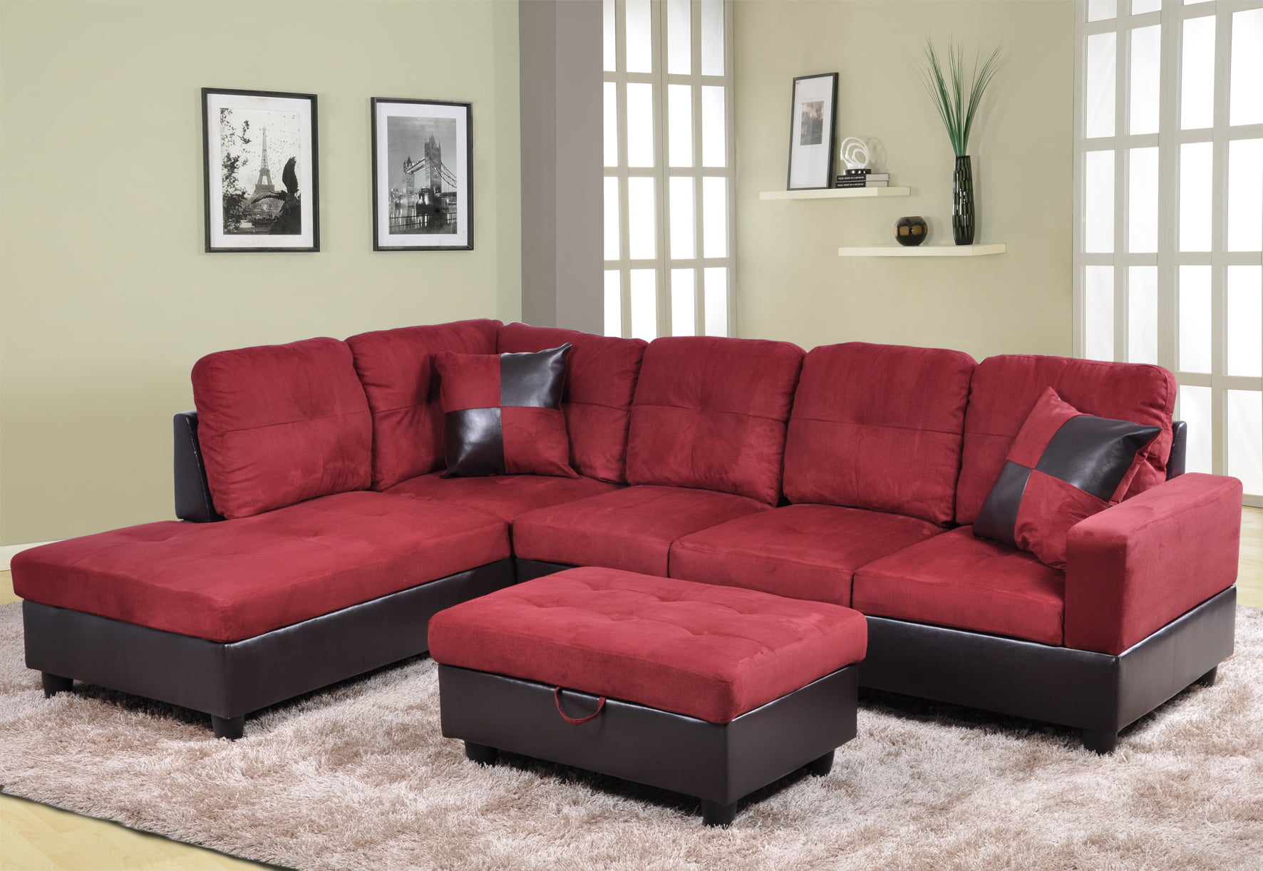 Hermann Left Chaise Sectional Sofa With