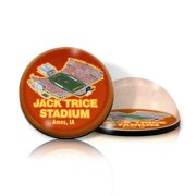Paragon Innovations IowaStateMAGSTA Crystal magnet with  Jack Trice stadium image  giving a magnifying effect-NCAA