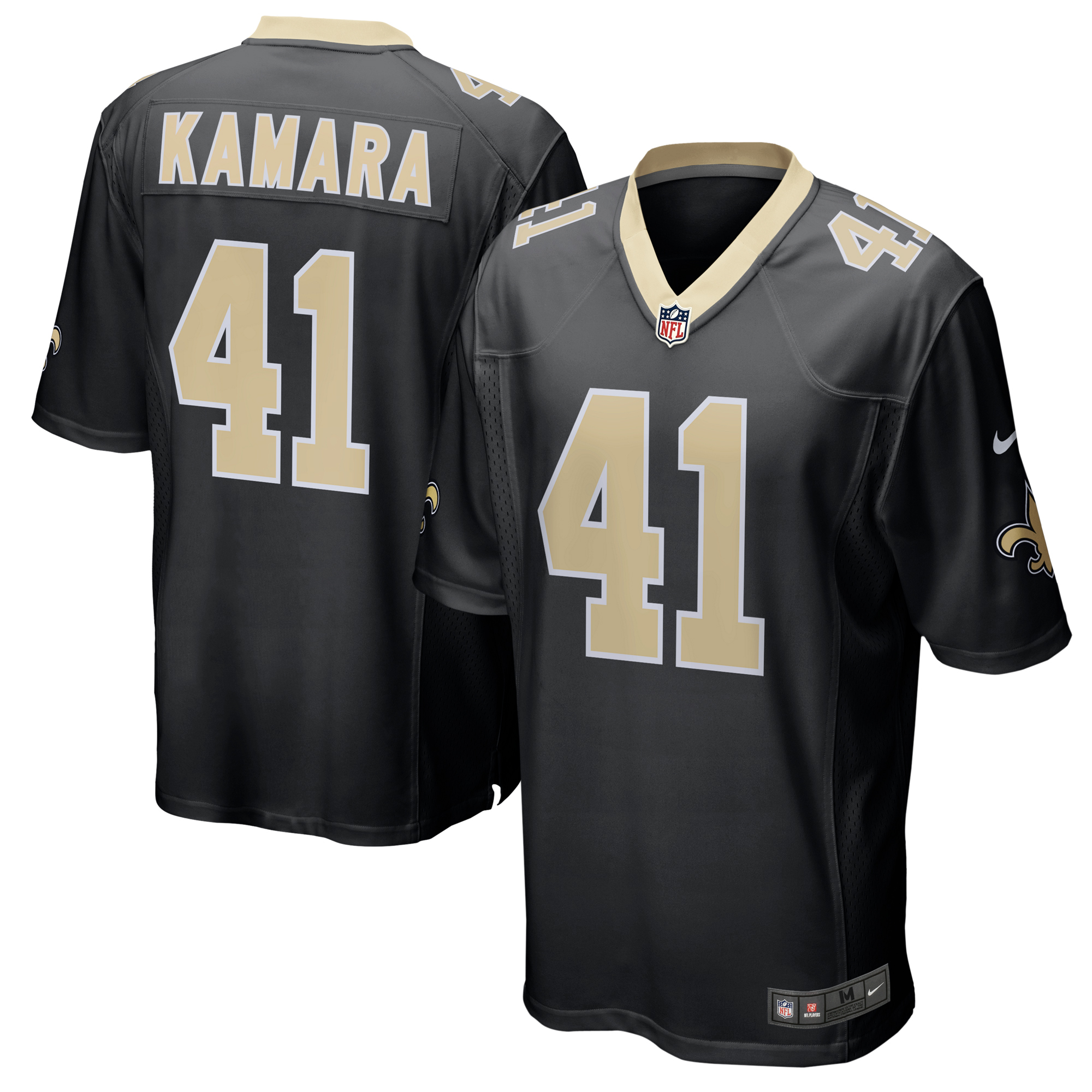 Alvin Kamara New Orleans Saints Nike Game Jersey - Black